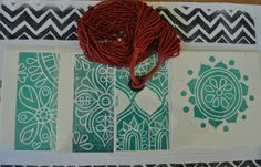 Set of 4 Hand Block Printed Blank Cards with by KanalShah on Etsy, $20.00