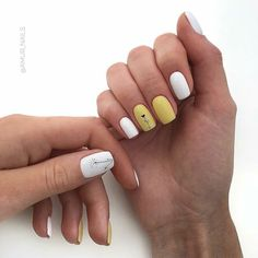 68 best Ideas for nails art yellow simple White Gel Nails, Yellow Nails, Nails Ideias, Fall Nail Art Designs, Gem Nails, Minimalist Nails, Square Nails, Simple Nails, Manicure And Pedicure