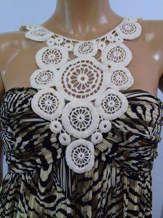 ac9230706b05 Muse for Boston Proper Zebra Print Pleated Crochet Maxi Dress Size 4 NWT  #BostonProper #