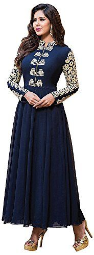Chariot Ethics Women's Georgette Semi Stitched Salwar Suit Set (H136) - http://weddingcollections.co.in/product/chariot-ethics-womens-georgette-semi-stitched-salwar-suit-set-h136/