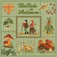"""Madame la fée - """"Ballade en Automne""""  180 x 180 points"""
