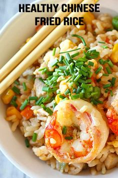 A healthy version of a classic takeaway, Chinese fried rice. It's good to know that I have an option of a healthier version of this delicious meal, something that I can easily make at home too. Healthy Chinese Recipes, Easy Asian Recipes, Healthy Recipes, Ethnic Recipes, Chinese Vegetables, Mixed Vegetables, Chinese Cabbage, Chinese Food, Chinese Meals