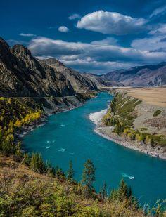 Katun river, Mountains Altai by Sergey Oslopov