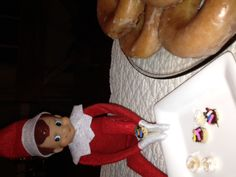 Day 24- Elf delivered donuts to the kids this morning...