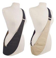Cloth Bags - Black and Khaki Reversible Cloth Sash Bag Diy Bags Patterns, Kurta Designs Women, Diy Handbag, Hip Bag, Leather Pouch, Cloth Bags, Purses And Bags, Couture, Sewing Tips