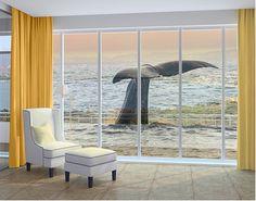 XXL FensterBild Wal beim Tauchgang
