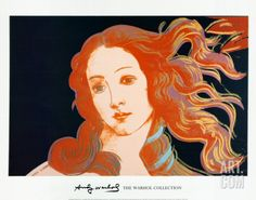 Details of Boticelli's Birth of Venus, c.1984 Art Print by Andy Warhol at Art.com