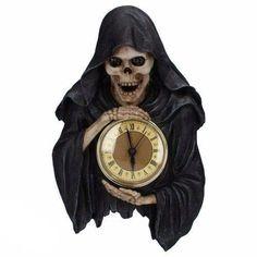 Gothic, Metal & Punk shop oblečení a doplňky - Brown Clocks, Punk Shop, Gothic Interior, Grim Reaper, Skeletons, Skulls, Gothic Metal, Attitude, Wall Decor