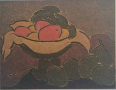 Sabri Berkel: Natürmort. Tuval uzerine yagliboya. 21×27 cm. Ozel koleksiyon