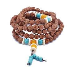 108 Wood Beads Prayer Bracelet Tibetan Buddhist Link Wrist Mala Elastic Necklace for Mens Womens *** BEST VALUE BUY on Amazon #BuddhistPrayer Buddhist Prayer, Crochet Necklace, Prayers, Bracelet, Beads, Amazon, Wood, Link, Stuff To Buy