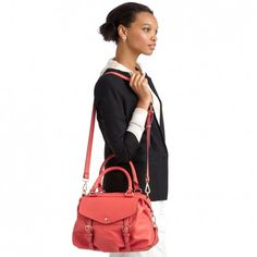 Women's Coral Faux Leather Medium Satchel | Sofie by Sole Society
