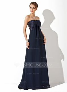 Evening Dresses - $116.99 - Empire Sweetheart Floor-Length Chiffon Charmeuse Evening Dress With Ruffle (017025916) http://jjshouse.com/Empire-Sweetheart-Floor-Length-Chiffon-Charmeuse-Evening-Dress-With-Ruffle-017025916-g25916?ver=xdegc7h0