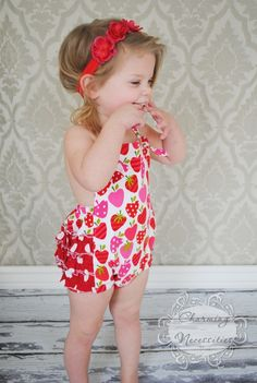 Retro Bubble Romper with Ruffles - not a fan of the big open back, but I could raise the back up, and change the sleeve to cross the back instead of a halter.