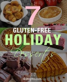 These 7 Gluten-Free Holiday Desserts are perfect and soooooo yummy!!