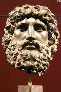 Roman bronze head of Jupiter at Kunsthistorisches Museum. Vienna, Renaissance, Roman, Museum, Bronze, Statue, Art, Craft Art, Kunst