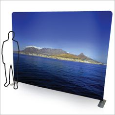Flat Stretch Fabric Wall A unique solution for exhibitions and portable graphic walls, this lightweight display wall is made from an aluminium pipe frame surrounded by a stretch fabric cover. The graphics are printed by die-sublimation on a special stretch fabric material that ensures an even, smooth surface across the face of the display wall.The unit is supplied with a carrier case for easy of transport. Size: 2.4m (h) x 3m (w) Display Wall, Wall Banner, Fabric Covered, Exhibitions, Fabric Material, Stretch Fabric, Flags, Banners, Size 2