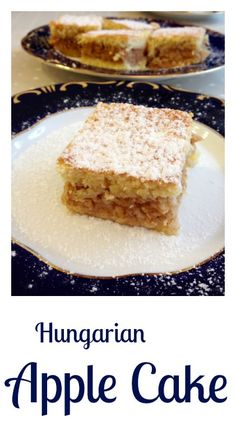 Hungarian apple cake (Almás pite) It is a true Hungarian classic, quite popular in the country. A delicious pie filled with sweetened shredded apple spiced with cinnamon and minutes… Hungarian Cookies, Hungarian Desserts, Hungarian Cake, Hungarian Cuisine, Hungarian Recipes, Hungarian Food, Croatian Cuisine, Apple Cake Recipes, Dessert Recipes