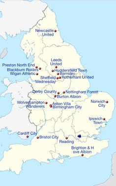 Best Map Of Premier League Teams Premier League 2013 14 400 x 300