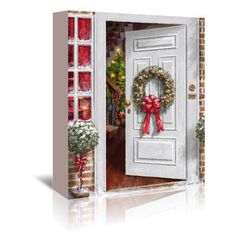 East Urban Home Home Holiday Entrance by Advocate Art Painting Print on Wrapped Canvas Size: