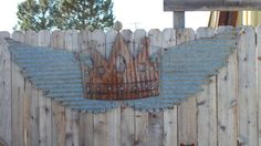 Upcycled old Corrugated Metal Wings with Crown by RockinBTradingCo, $69.00