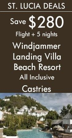 St. Lucia - Castries: Windjammer Landing Villa Beach Resort All Inclusive | Discover Mediterranean-style villas set among 60 acres of tropical gardens in St. Lucia! View More All Inclusive Deals!