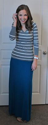 Knits for Beginners/Maxi Skirt/Merricks Art