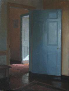 "Doors by Peter Van Dyck (21"" x 16"", oil on linen, 2006)"
