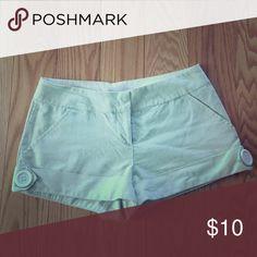Pin stripe - mint/white shorts Worn 2x Charlotte Russe Shorts