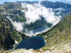 The View from Czarny Staw to Morskie Oko ( close to Zakopane ) , Polish Mountains Tatry . 11 years ago I took my kids there with me , we made it just before huge rain , going down wasn't fun soak and wet , lol  but we did it !