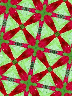 Connections - Red in companionship with its beloved color soulmate, Green.