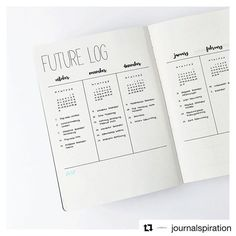 #Repost @journalspiration ・・・ I thought it would be a great idea to show you a closer version of the future log since so many of you liked it!  I decided to try a more natural look for my photos, I can't decide what kind of theme I want for my Instagram feed. I'm so indecisive when it comes to my photos, it's like my bullet journal.  i need to change things all the time. I hope my experiments don't bother you!  ____________ Ich dachte, es wäre eine gute Idee, euch eine Nahaufnahme des future…