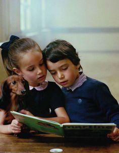 Editorial infantil lindo da Vogue Paris.