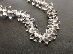 Crystal Quartz Faceted Puff Marquise Beads by gemsforjewels