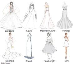 Names of styles of prom dresses