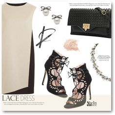 A fashion look from October 2015 featuring PINGHE dresses and Black Rivet shoulder bags. Browse and shop related looks.