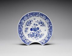 A blue and white barber's bowl, 18th Century