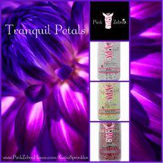 """Tranquil Petals"" 1/3 Relax, 1/3 Stress Relief, 1/3 Garden Lilac  www.PinkZebraHome.com/KatieSprinkles #PinkZebra #Sprinkles #Recipes"