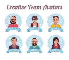 Digital Marketing Team Avatars