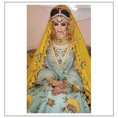 Image may contain: 1 person, closeup Wedding Lehanga, Pakistani Wedding Outfits, Wedding Sari, Bridal Outfits, Bridal Mehndi Dresses, Bridal Lehenga, Indian Bridal Wear, Indian Wear, Lehenga For Girls