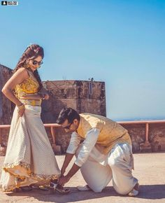 Color Coordinated Outfit Ideas For The Millennial Bride And Groom Indian Wedding Couple, Sikh Wedding, Red Wedding, Wedding Couples, Matching Couple Outfits, Matching Couples, Wedding Looks, Bridal Looks, Wedding Trends