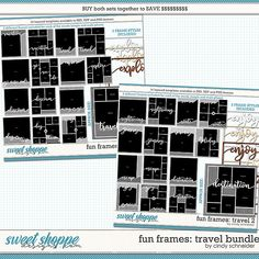 Cindy's Layered Templates - Fun Frames Travel Bundle by Cindy Schneider Frame Template, Scrapbook Templates, Travel Memories, Digital Scrapbooking, Frames, Layout, Make It Yourself, Words, Fun