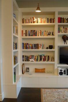 Room shelves, built in cabinets, bookshelves built in, custom bookshelves, Custom Bookshelves, Corner Bookshelves, Bookcase Wall, Bookshelf Design, Built In Bookcase, Custom Shelving, Bookshelf Ideas, Wall Shelves, Simple Bookshelf