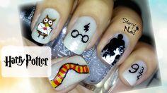 Harry Potter Cute Nail Art TUTORIAL #nails #nailart #nailpolish #naildesign #nailtutorial #nailarttutorial #tutorial #art #HarryPotter