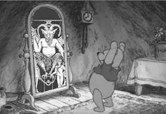 scary Black and White disney creepy weird child childhood horror winnie the pooh dark morbid children kids Walt Disney satan satanism blog darkness Lucifer Demon Macabre walt disney world satanic demonic horrible ritual the devil satanist terrifying Winnie Pooh