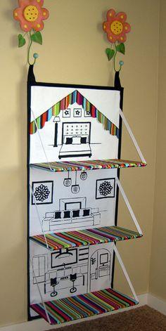 Folding doll house.