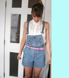 Mallory Makes Things: Overalls 90s fashion updated