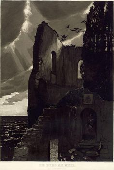 MAX KLINGER 1857 –1920 The Castle by the Sea (1887) Date: 1887 Technique: Etching and aquatint on ivory wove paper, laid down on ivory wove paper, 760 x 557 mm