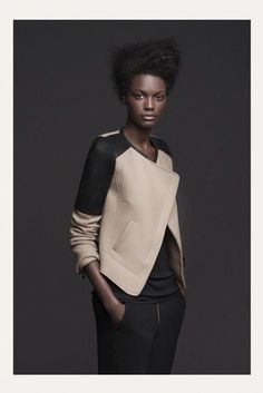 Beige and black modern jacket