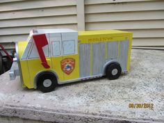 You'll have the most unique mailbox on the block with this wonderful @Etsy handmade Custom Fire Engine Mailbox!