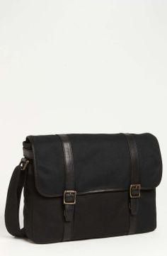 Fossil 'Estate East/West' Messenger Bag available at Brown Leather Messenger Bag, Messenger Bag Men, Messenger Bag Patterns, Best Handbags, Computer Bags, Best Bags, My Bags, Mens Fashion, Fashion Black